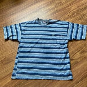 Vintage 80s blue quicksilver striped tee